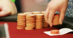 ECR 2017 Chip Stacks at the Roulette Main Event